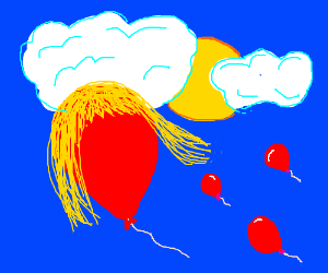balloon with blonde hair
