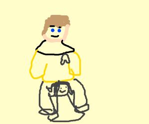 Capt Kirk has woman tangled in legs