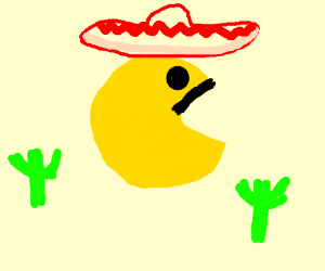 spanish pacman drawing by jmackattack54 drawception