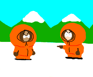 Somebody is pretending to be Kenny