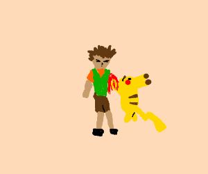 pikachu uses falcon punch! brock dies