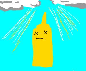 dead mustard ascends to heaven