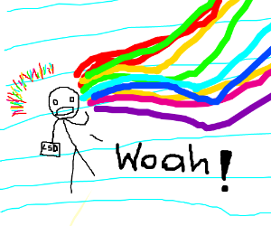 Paper man has just taken LSD