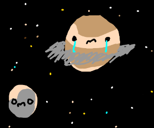 Planet Pluto Feels Lonely Saturn Cries Drawception