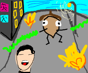 Asians get attacked by Acorn