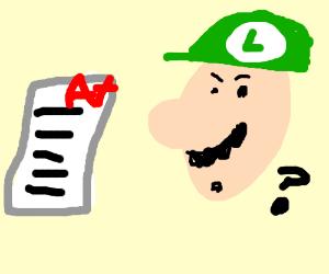 Luigi does not understand math