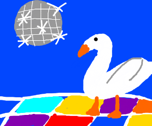 Goose at the disco