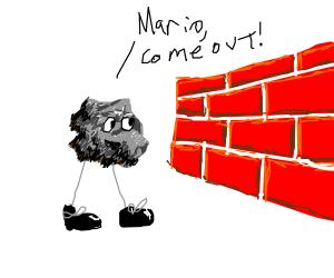 The asteroid man knew mario was behind da wall
