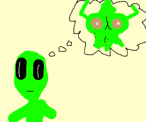 Alien with a dirty mind