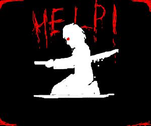 Creepy man commits Seppuku and calling forhelp