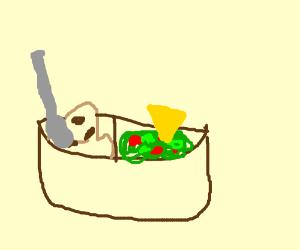 ice cream and guacamole