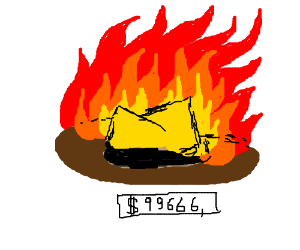 Super expensive flaming hat