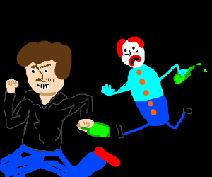 Teenager stole wine from drunk clown