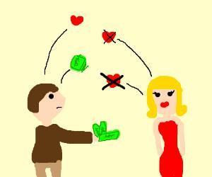 Money can't buy love.