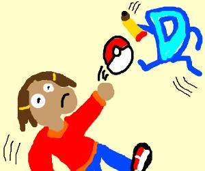 Pokemon battle; Francine vs Drawception D