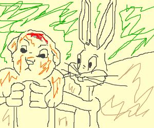 Bugs Bunny fills in for Rafiki