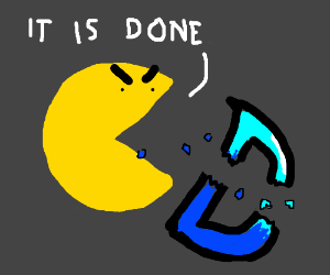 Pacman is the death of Drawception logo.