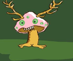 Mutated Mushroom With Antlers