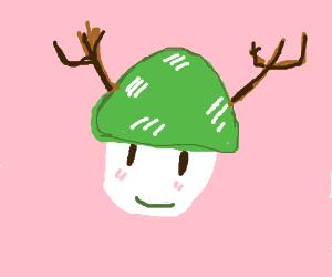 Cute lil green mushroom with antlers