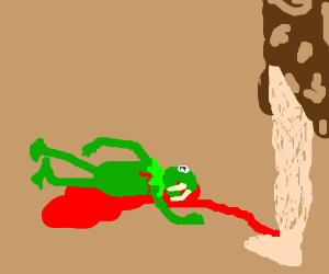 Cavemen killed Kermit
