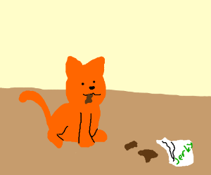 Cat jerking off