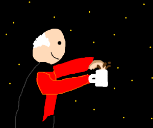 Picard dunks in Space