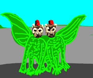 Siamese monkeys do dragon cosplay