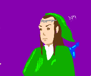 Elrond (Lord of the Rings) and Zelda in one