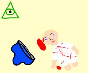 Underwear murders baby with illuminati watchin