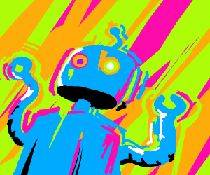 Trippy psychedelic robot