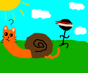 Snailcat didn't notice him