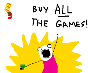 Man realizes he'll buy everything @ E3