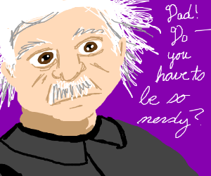 Albert Einstein embarrasses his daughter