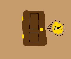 door slam & Wind pushing a door shut