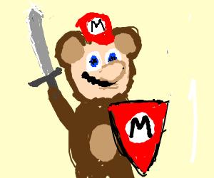 Mario becomes teddy bear Knight