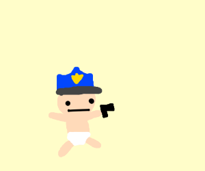 The baby police officer