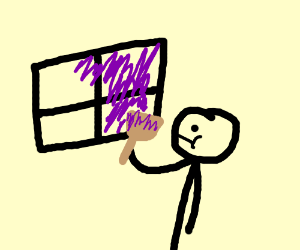 Painting a window purple
