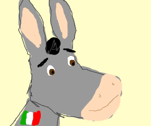 Donkey from Shrek becomes an Italian