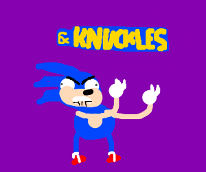 Sonic steals Knuckle's spiky gloves