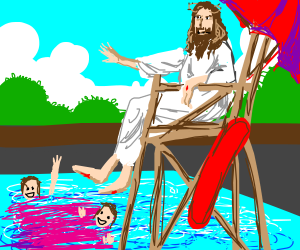 Jesus the life guard