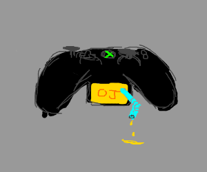Orange juice powered X-Box remote