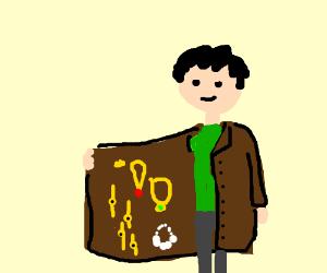 illegal jewlery vendor