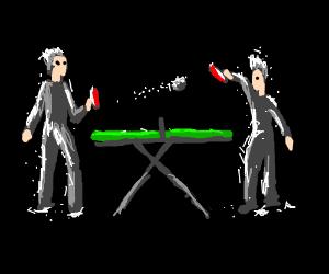 Glitter ping pong
