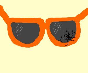 Cracked orange sunglasses