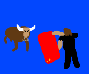 Bullfighting with a USSR flag
