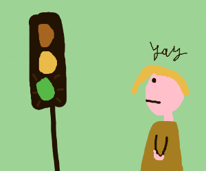 Traffic sign triggers a girl