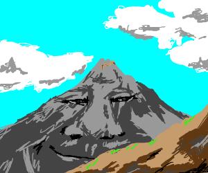 Spaghetti on a happy mountain