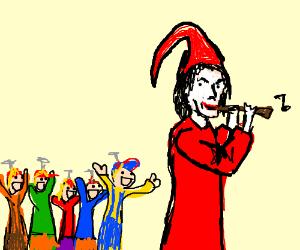 The Pied Piper of Hamelin in pedofilic version