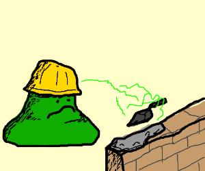 green glob builder uses telekinesis to work