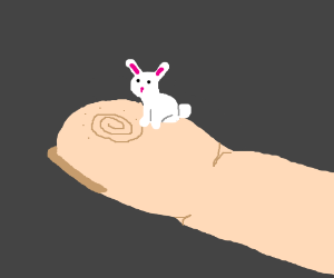 Tiny Bunny on your fingertip